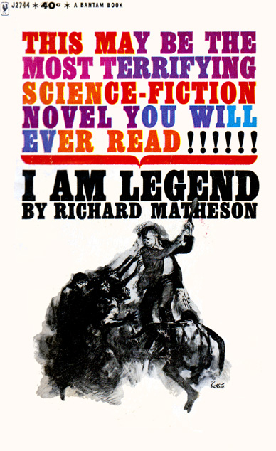 I Am Legend by Richard Matheson (Bantam J2744 - 1964)