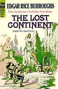 The Lost Continent by Edgar Rice Burroughs (Ace 49291 - 1969); Frazetta cover