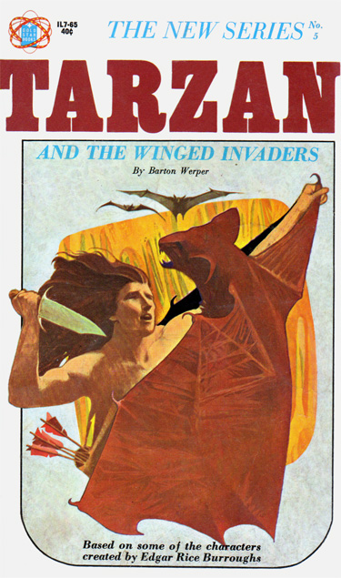 Tarzan And The Winged Invaders by Barton Werper (Gold Star IL7-65 - 1965)