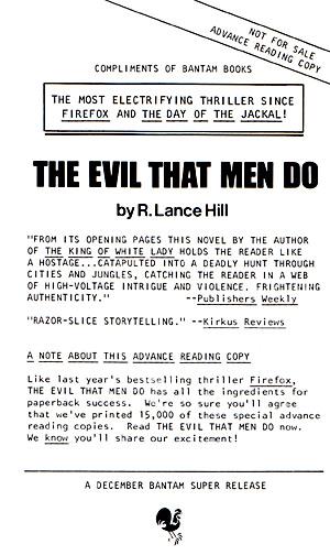 The Evil That Men Do (advanced reading copy)