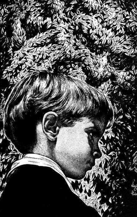 Virgil Finlay illustration from John Collier's short story Thus I Refute Beelzy