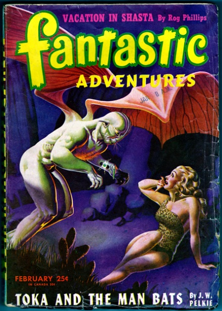 Fantastic Adventures Vol 8 #1, Feb/1946, front cover