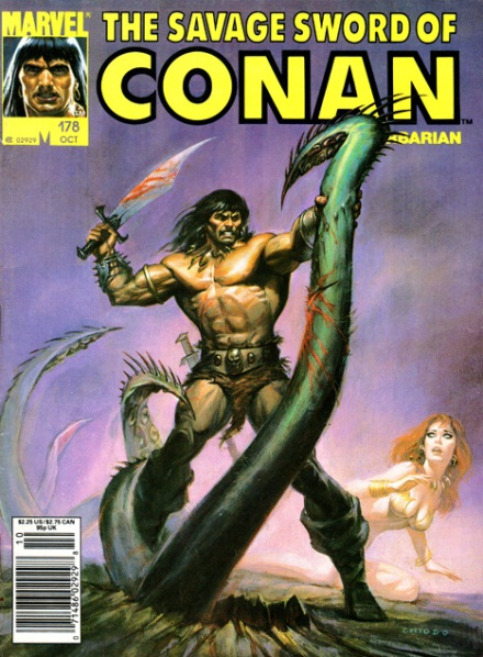 The Savage Sword Of Conan Vol 1 #178, 10/90